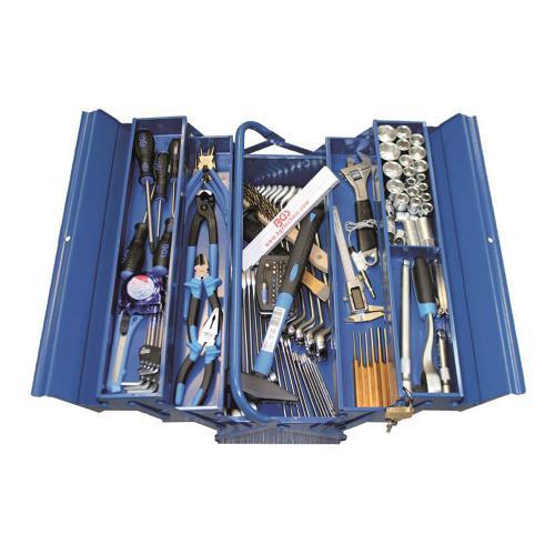 Metall-Werkzeugkiste inkl. Werkzeuge, 137-tlg.