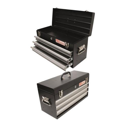 Metall Werkzeugkoffer, leer, 3 Schubladen