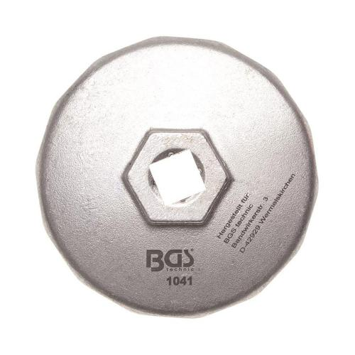 Ölfilterkappe aus Aluminium-Druckguss 74 mm x 14-Kant