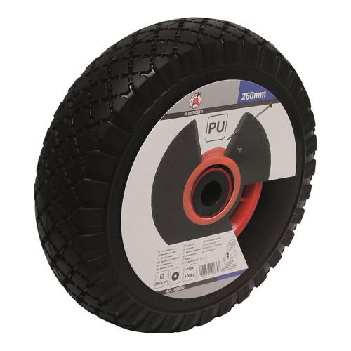PU-Rad für Sackkarre / Bollerwagen, rot/schwarz, 260 mm