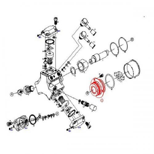 Radialkolbenpumpe CRCP1K3R5510S / Bosch-Nr. 0445010138