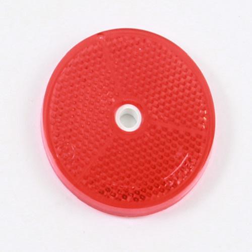 Reflektor Rückstrahler Katzenauge selbstklebend Ø 60mm rot