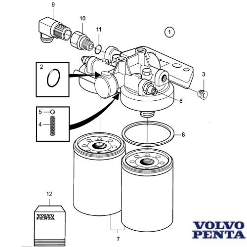 Reparatursatz Kraftstofffilter Volvo Penta TAMD Fuelfilter