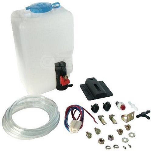 Scheibenwaschbehälter inkl. Pumpe Schlauch Kabelsatz Schalter usw.