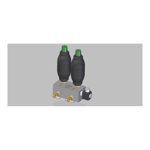 Schock Absorber System 1 - TB - mit 2 Speicher Vorfülldruck (1x 15 bar) und (1x25 bar)