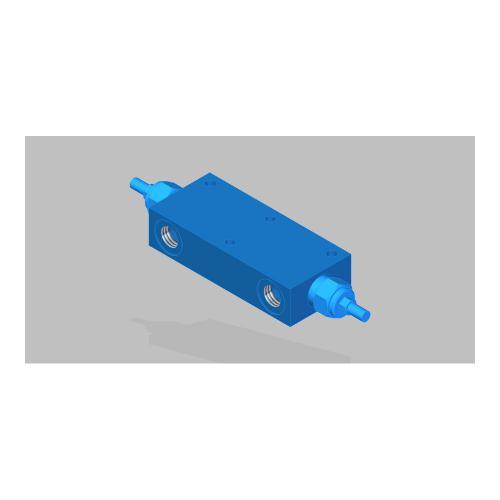 Senkbremsventil doppeltwirkend - TG - G1/2 - Qmax 80 L/min.