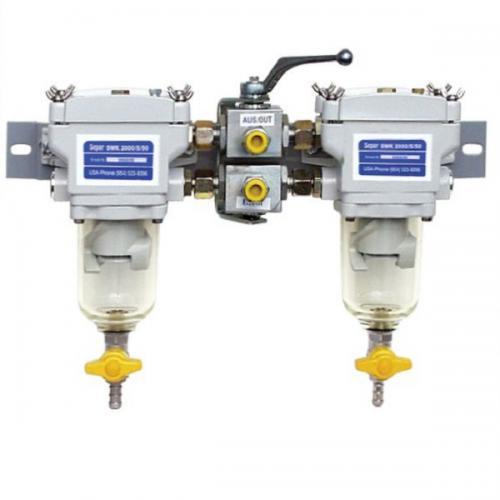 SEPAR SWK 2000/5 Duplex Wasserabscheider & Filter für leichte Dieselkraftstoffe Marineanwendung