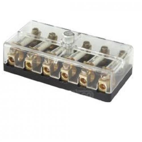 Sicherungsdose 6 x 8 Ampere Sicherungskasten Acrylabdeckung 12 Volt