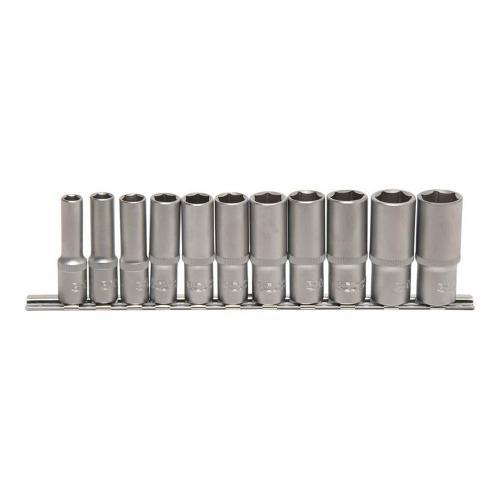 Steckschlüssel-Einsätze, tief, 10 (3/8), 8-19 mm, 11-tlg.