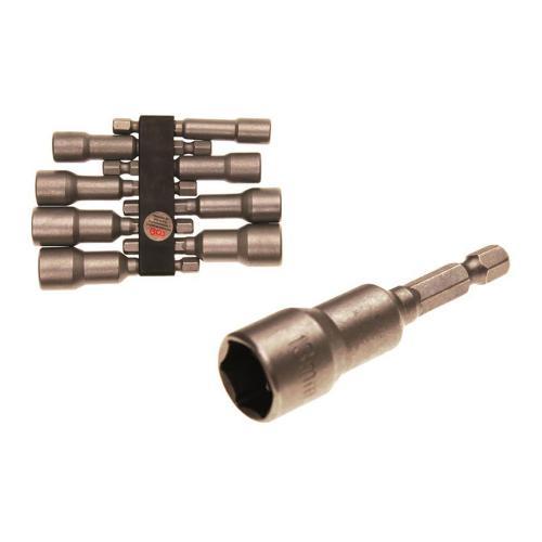 Steckschlüssel-Einsatz-Set, 6-Kant Bohrmaschinenschaft, 6 - 13 mm