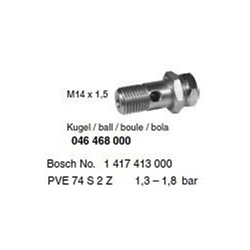 Überströmventil Einspritzumpe vergl. Bosch 1417413000 MM14x1, 5, 1, 3-1, 8bar