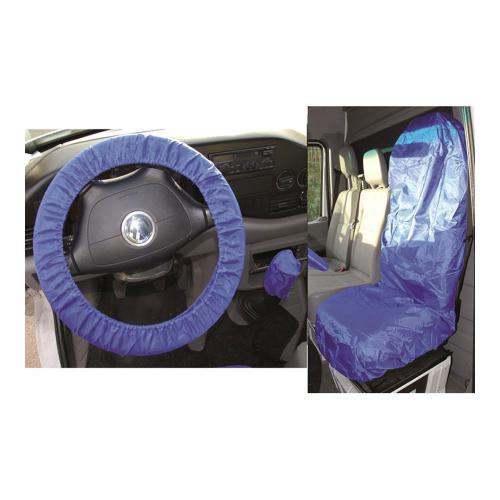 Universal Sitz- und Lenkrad-Schonbezug-Satz, Polyester