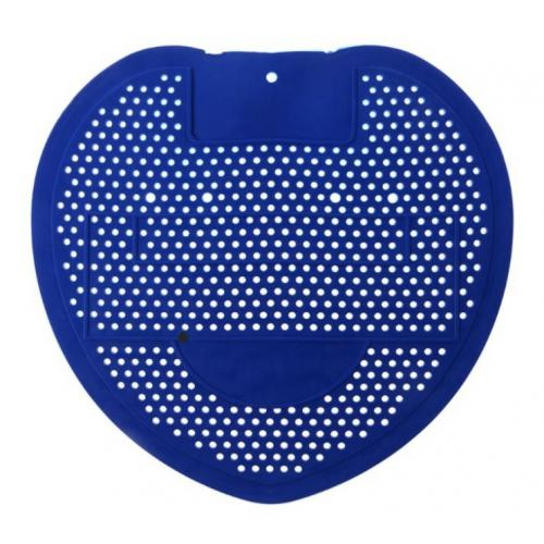 Urinalpad Gummimatte Zitronenduft Farbe: blau