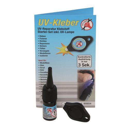 UV-Kleber 3g, inkl. UV-Lampe
