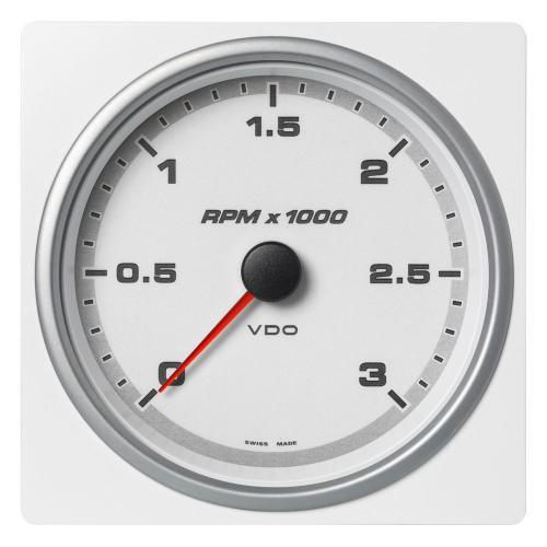 VDO-AcquaLink® Drehzahlmesser 110 mm 3.000 bis 7.000 U/min. schwarz oder weiß