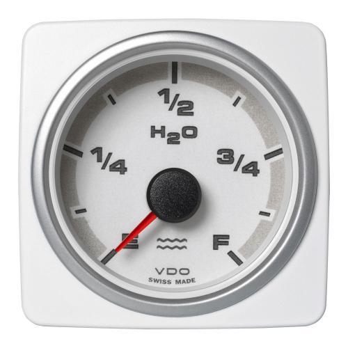 VDO-AcquaLink® Füllstandsanzeige Wasser E-F 52 mm 12-24 V schwarz oder weiß