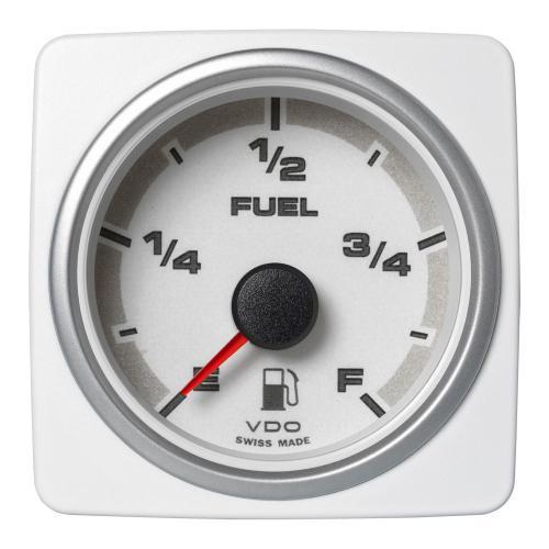 VDO-AcquaLink® Füllstandsanzeigen Kraftstoff E-F 52 mm 12-24 V schwarz oder weiß