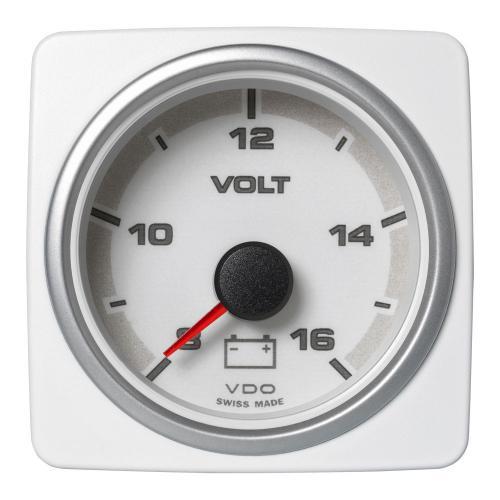 VDO-AcquaLink® Voltmeter 52 mm 12-24 V schwarz oder weiß