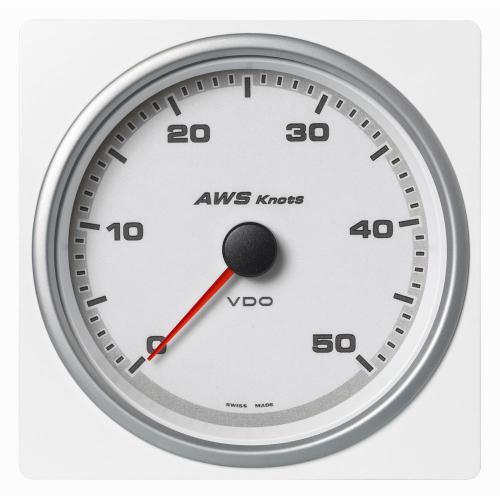 VDO-AcquaLink® Windmessinstrument 110 mm Scheinbare-Windgeschwindigkeit 50 Knoten schwarz oder weiß
