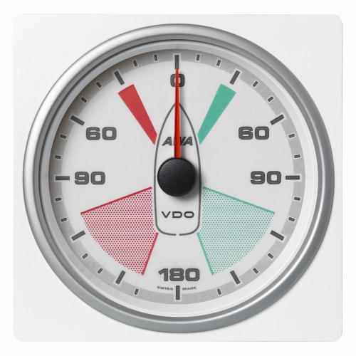 VDO-AcquaLink® Windmessinstrument 110 mm Scheinbarer-Windwinkel 360° schwarz oder weiß