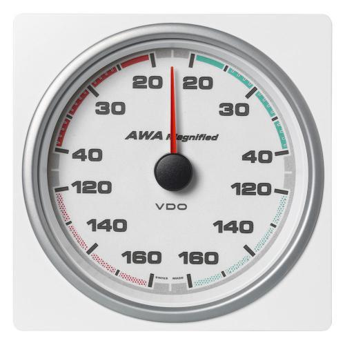 VDO-AcquaLink® Windmessinstrument 110 mm Scheinbarer-Windwinkel (vergrößert) 360° schwarz oder weiß