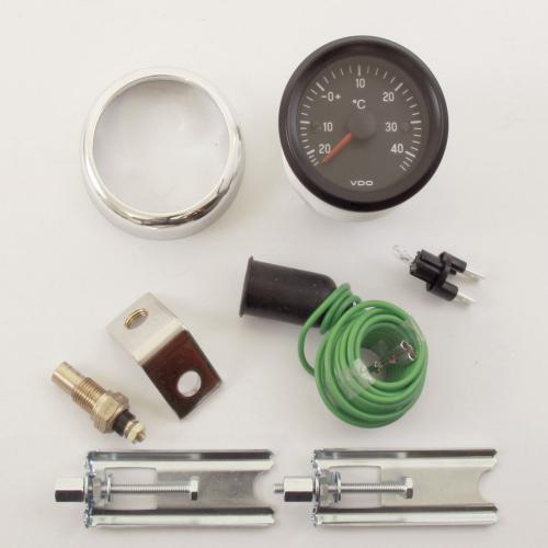 VDO Außenthermometer Aussentemperatur 12V Armatur analog -20 +46°C Chromring