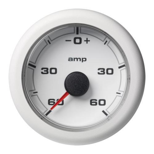 VDO-OceanLink Amperemeter Ø52mm -60/+60A- -150/+150A 12-24V schwarz oder weiß