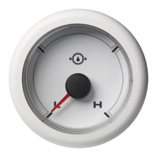 VDO-OceanLink Getriebeöldruck-Anzeige Ø52mm 30 bar/440 psi-Low/High (440 psi) 12-24V schwarz oder weiß