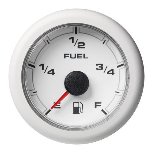 VDO-OceanLink Kraftstofffüllstand-Anzeige Ø52mm Empty-Full 12-24V schwarz oder weiß
