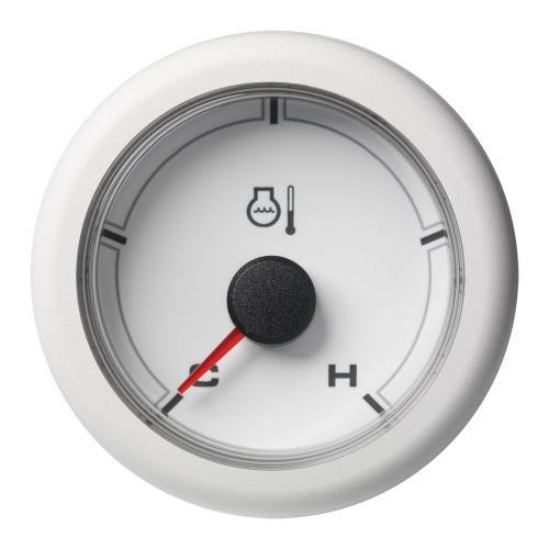 VDO-OceanLink Kühlwasser-Temperaturanzeige Ø52mm 120°C/250°F-Cold/Hot (250°F) 12-24V schwarz oder weiß