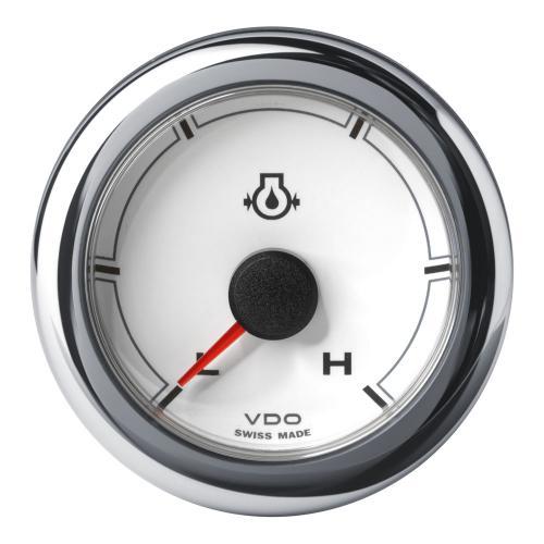 VDO-OceanLink Motoröldruck-Anzeige Ø52mm 10 bar/150 psi-Low/High (150 psi) 12-24V schwarz oder weiß