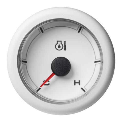 VDO-OceanLink Mototröl-Temperaturanzeige Ø52mm 150°C/300°F-Cold/Hot (300°F) 12-24V schwarz oder weiß