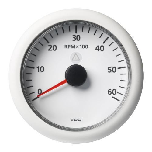 VDO-ViewLine Drehzahlmesser Ø52mm/Ø85mm 4000-8000U/min/3000-6000U/min 8-32V schwarz oder weiß
