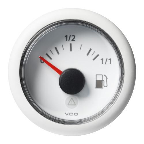 VDO-ViewLine Füllstandsanzeiger Kraftstoff Ø52mm 0-1/1 8-32V 3-180 Ohm schwarz oder weiß