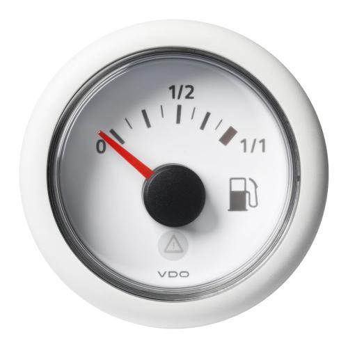 VDO-ViewLine Füllstandsanzeiger Kraftstoff Ø52mm 0-1/1/Empty-Full 8-32V 90-4 Ohm schwarz oder weiß