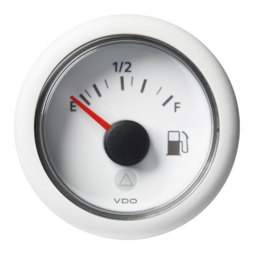 VDO-ViewLine Füllstandsanzeiger Kraftstoff Ø52mm Empty-Full 8-32V 240-33,5 Ohm schwarz oder weiß