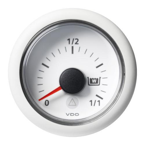 VDO-ViewLine Füllstandsanzeiger Schmutzwasser Ø52mm 0-1/1 8-32V 4-20mA schwarz oder weiß