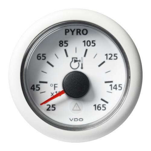 VDO-ViewLine Pyrometer Ø52mm 100°C-900°C/250°F-1650°F 8-32V schwarz oder weiß