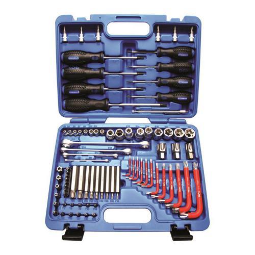 Werkzeugsortiment, T-Profil, E-Profil, 6,3 (1/4) + 12,5 (1/2), 84 tlg.
