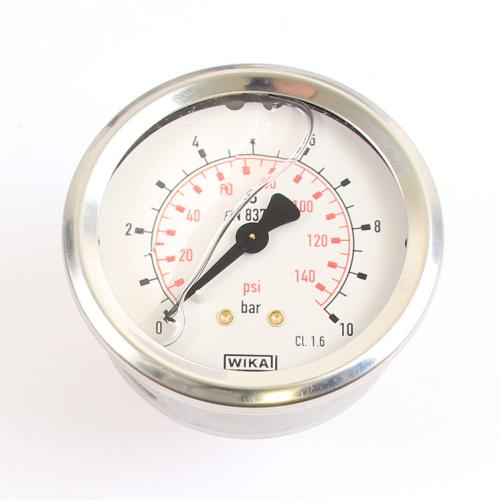 "Wika Druck-Manometer 10 bar Armatur Glyzerin EN 837-1 G 1/4"""