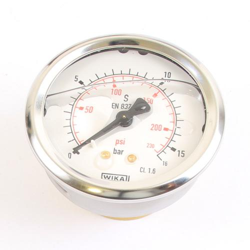 "Wika Druck-Manometer 16 bar Armatur Glyzerin EN 837-1 G 1/4"""