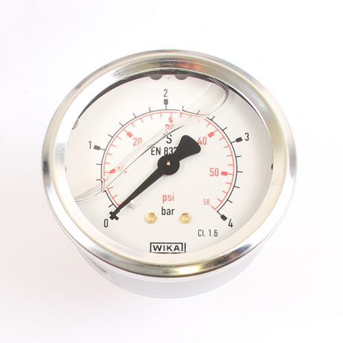 Wika Druck-Manometer 4 bar Armatur Glyzerin EN 837-1 G 1/4