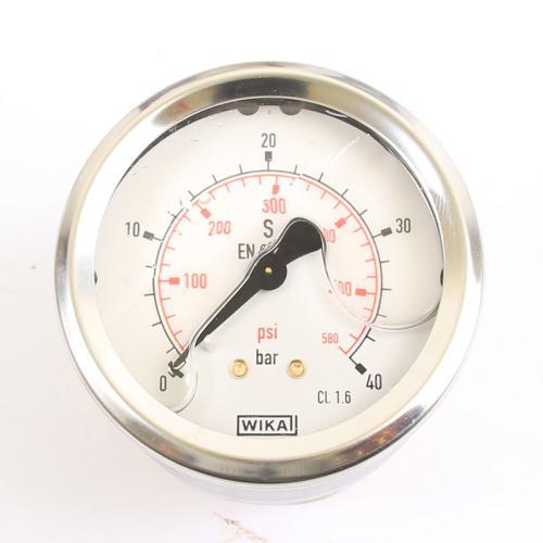 "Wika Druck-Manometer 40 bar Armatur Glyzerin EN 837-1 G 1/4"""