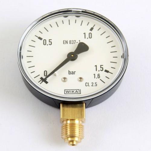 Wika Manometer 0 - 1,5 bar Armatur mit Rohrfeder EN 837-1 G 1/4