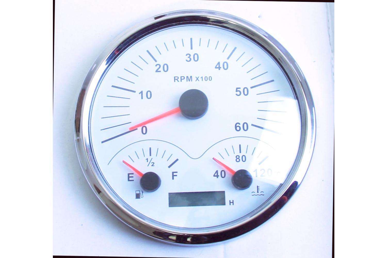 KUS Trimmanzeige Trimmarmatur 0-190Ohm Edelstahl weiss